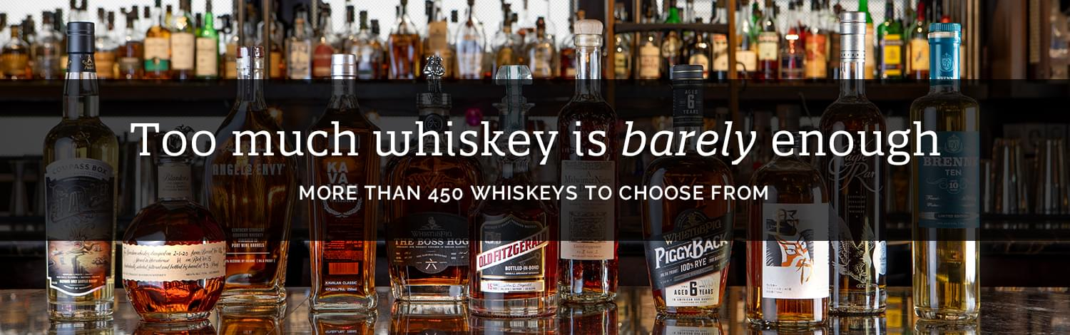 Too much whiskey is barely enough